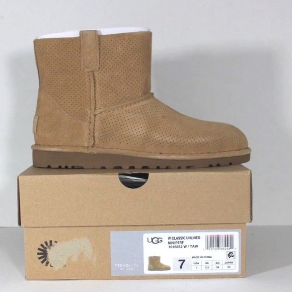 67a4402497f New Ugg Australia Unlined Mini Perforated Boots 7 NWT